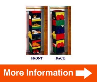 daily activity organizer 6 shelf hanging closet 11x11x48 clarified